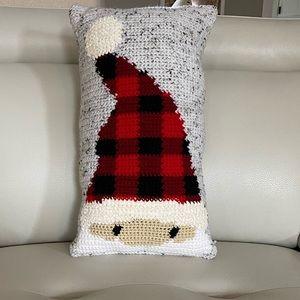 Hand stitched Santa Christmas pillow.